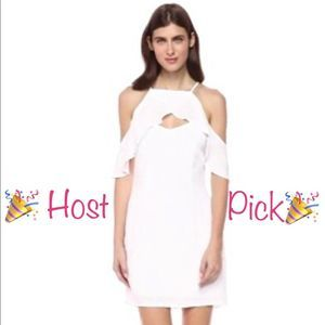 BB Dakota White Keyhole Dress